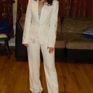 Anne Klein White Blazer and Pants Set